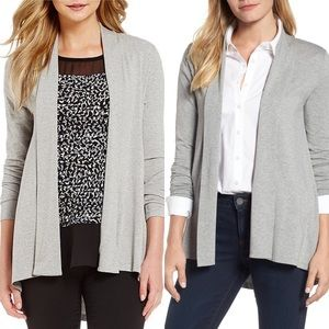 Vince Camuto Gray Open Front Cardigan NWT Stretch